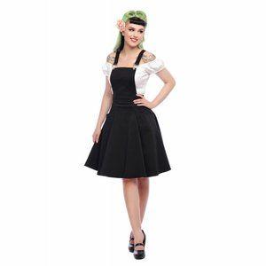 Collectif Kayden Overalls Swing Dress in Black